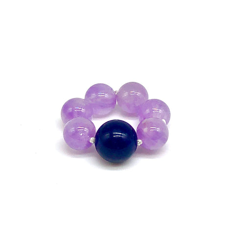 Indigo and Lavender Energy Ring for intuition