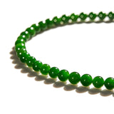 Green Jade necklace on a white background