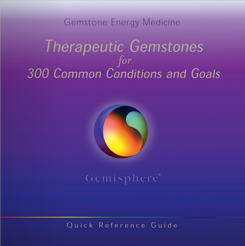 Therapeutic Gemstones guidebook - front cover.