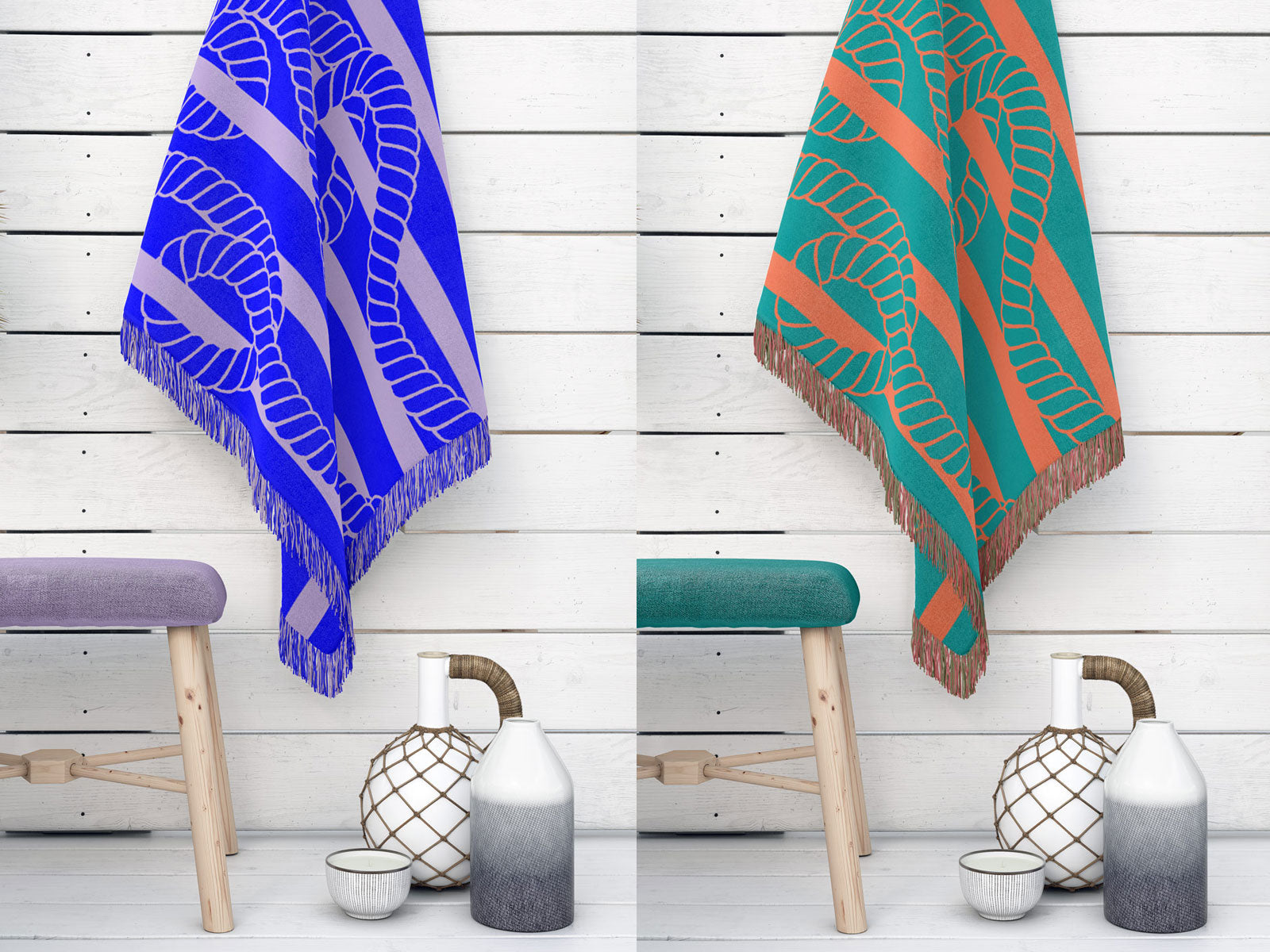 MAMIMU Throw Blanket Sanur Ropes