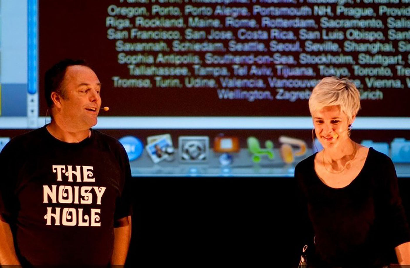 Astrid Klein with Mark Dytham at TEDx Tokyo