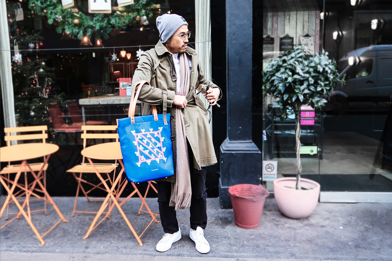 Japanese Gentleman with MAMIMU City Tote Tokyo