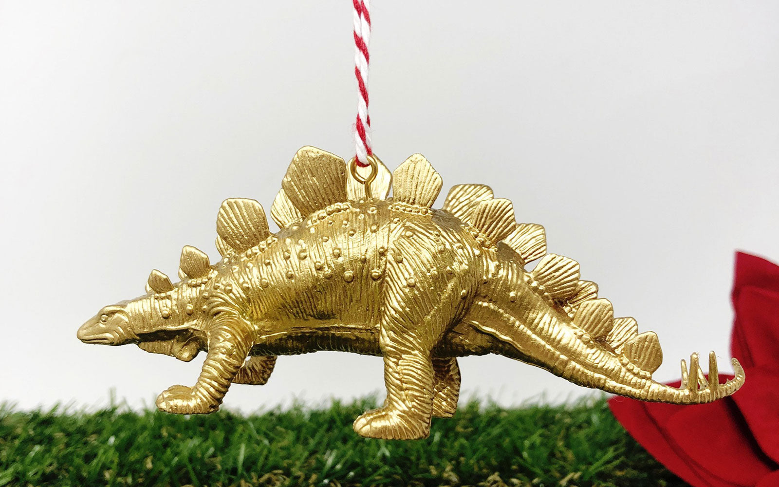 Muri Home Stegosaurus Dinosaur Gold Christmas Tree Ornament