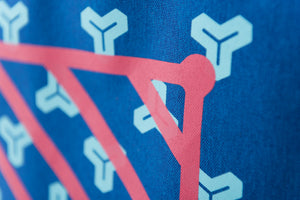 MAMIMU Manhole City Laptop Tote Bag : Tokyo : Screen-print Detail