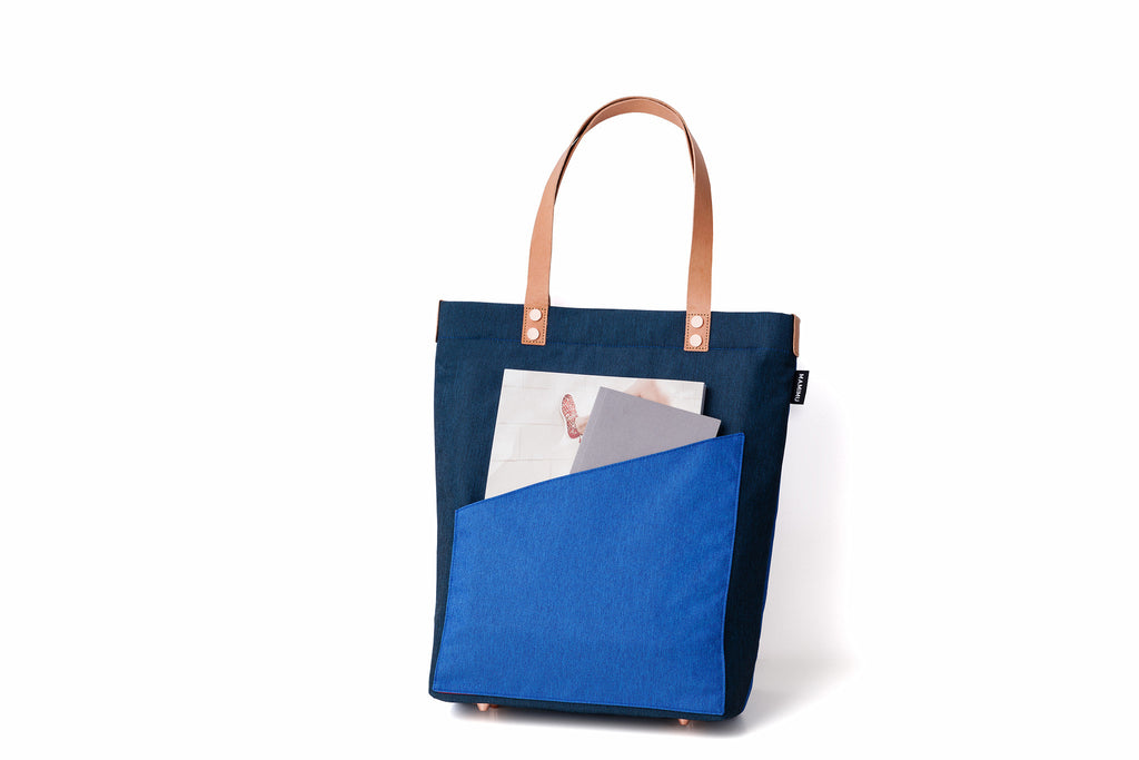 MAMIMU Manhole City Laptop Tote Bag: Tokyo : Bag Back Pocket