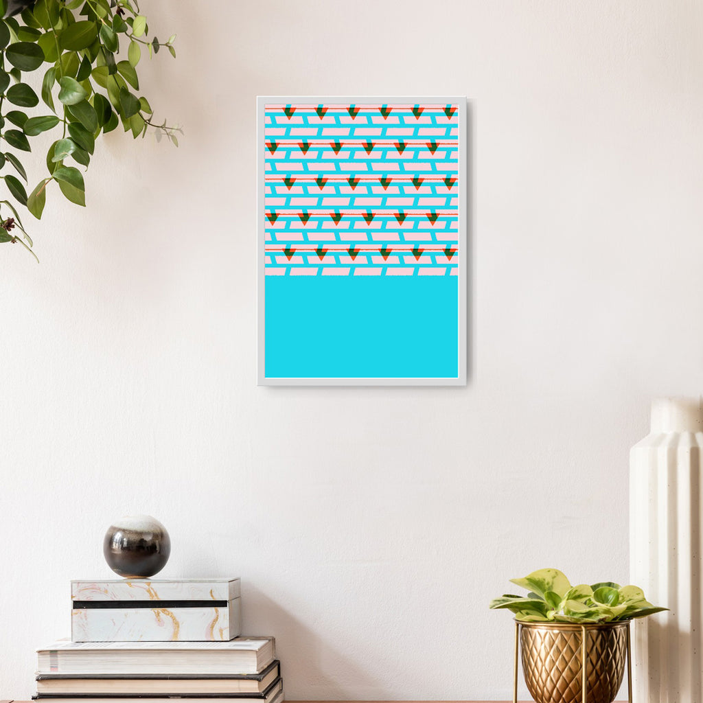 Shoreditch Shutters Print (Light Blue)