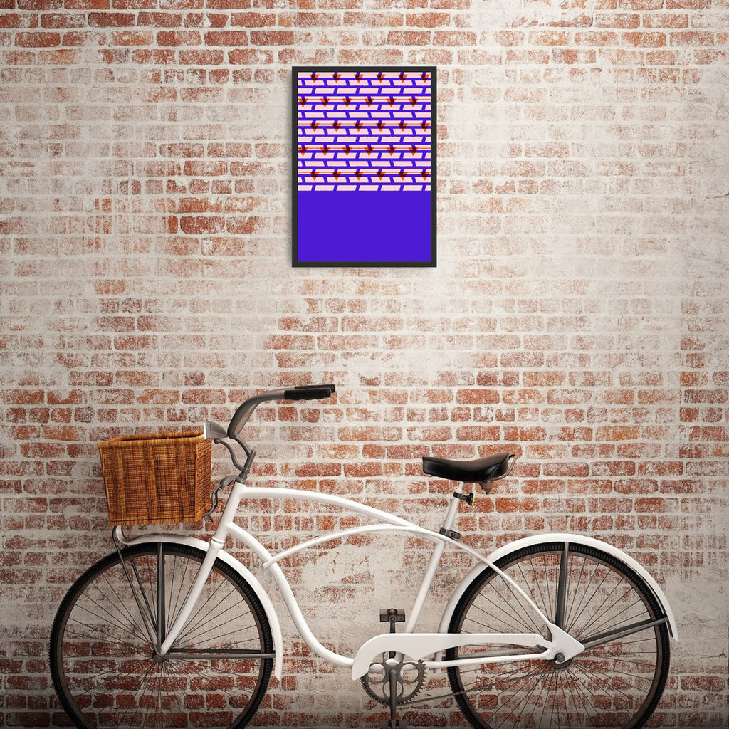 Shoreditch Shutters Print (Purple)