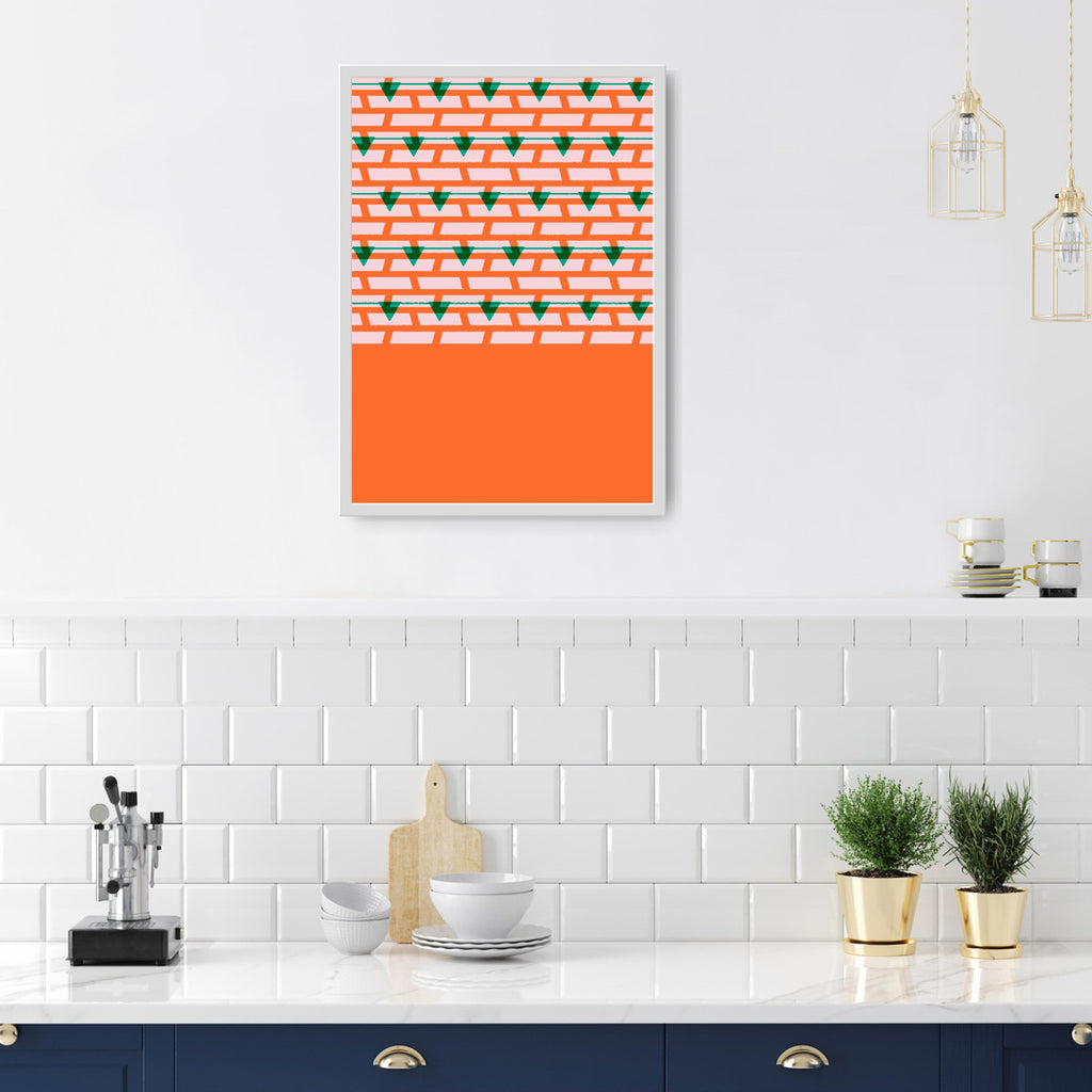 Shoreditch Shutters Print (Orange)