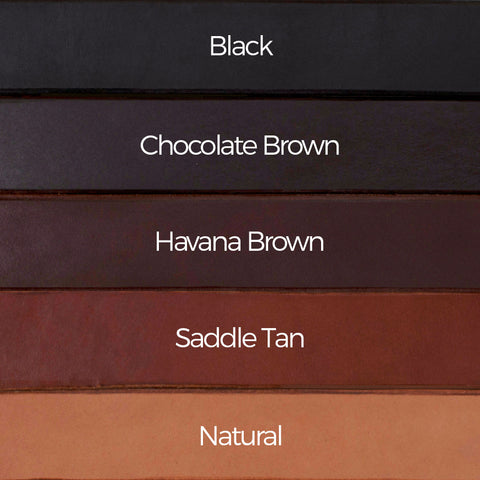 Men's Casual Solid Leather Belt Colour Comparison Chart