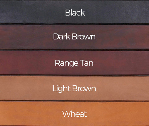 Men's Distinction Solid Leather Belt Colour Comparison Chart