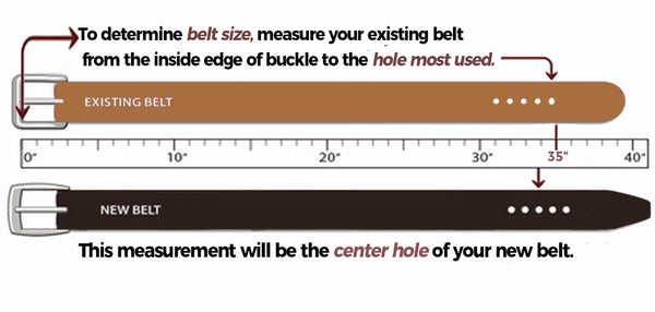 how to size a leather belt