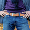 Mens Tan Handmade Leather Belt