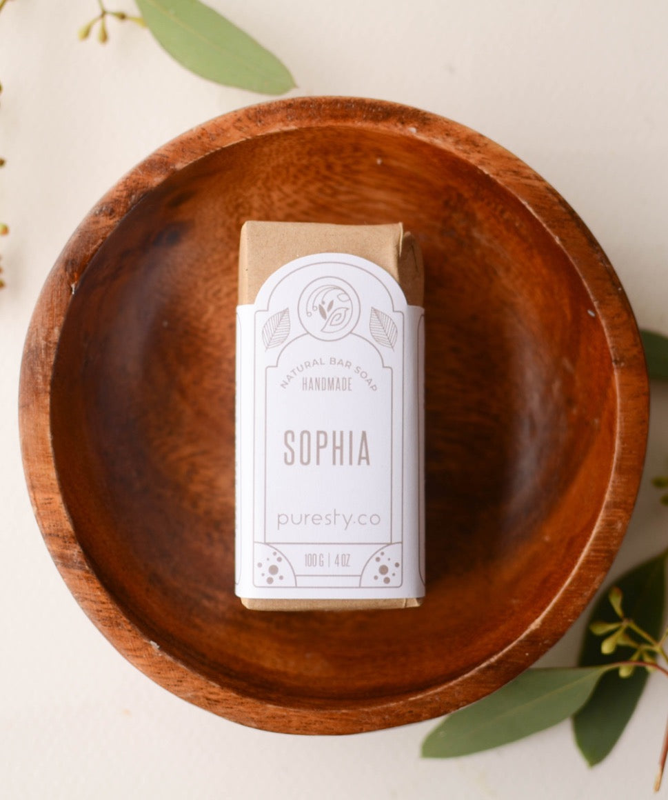 """Sophia"" Black Charcoal Soap"