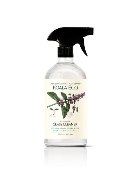 All Natural Glass Cleaner - with Pure Australian PEPPERMINT Essential Oil