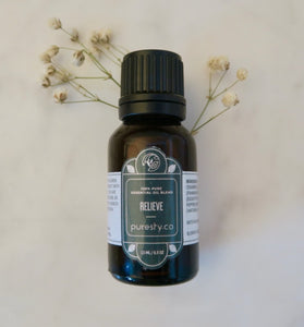 Puresty.co RELIEVE Pure Essential Oil Blend
