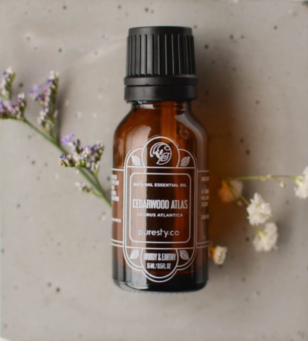 Puresty.co Cedarwood Atlas (Cedrus Atlantica) Single Origin & Pure Essential Oil