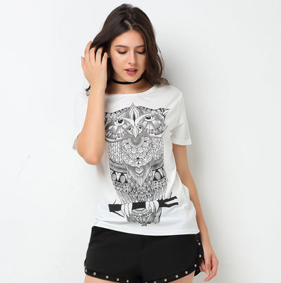 Owl Graffiti T-Shirt