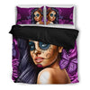 Calavera Bed Duvet Set - Pinky