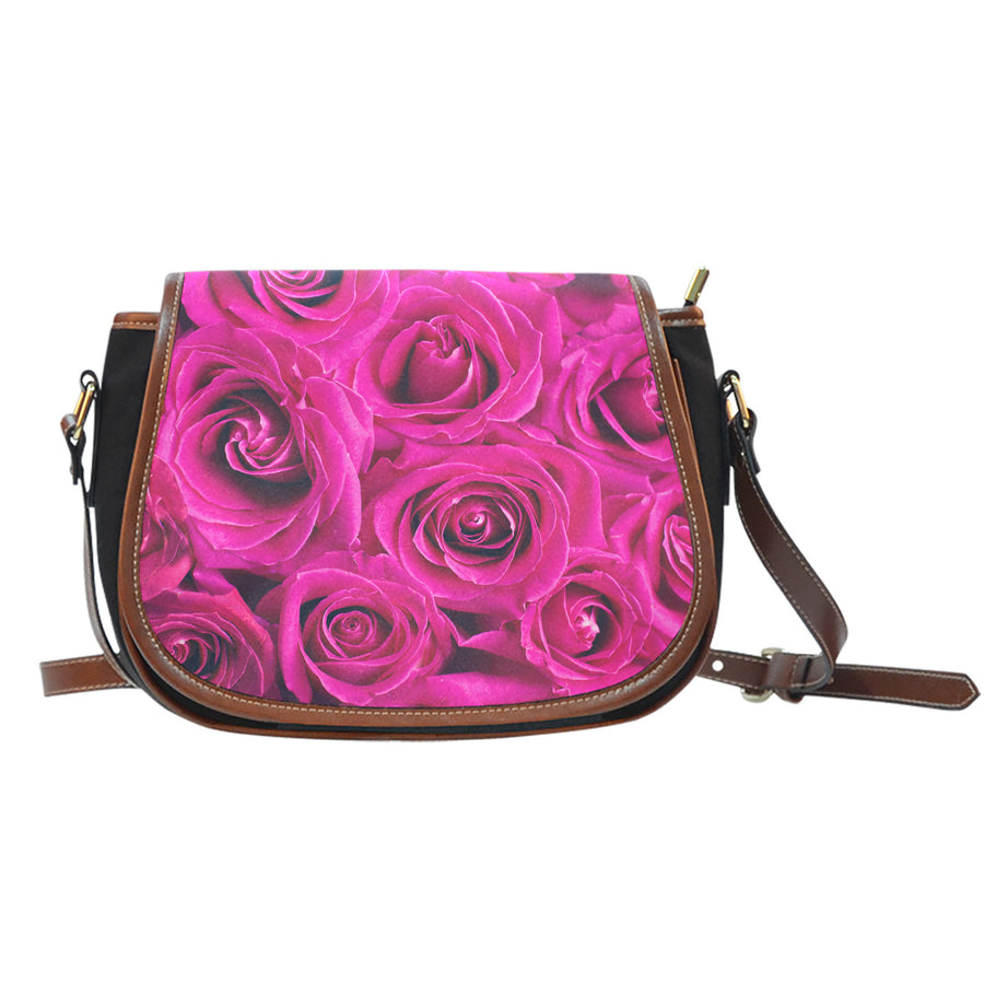 Pink Rose Saddle Bag