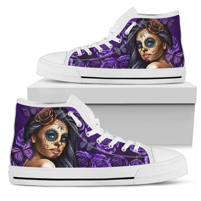 Calavera Woman in Purple - Men and Women