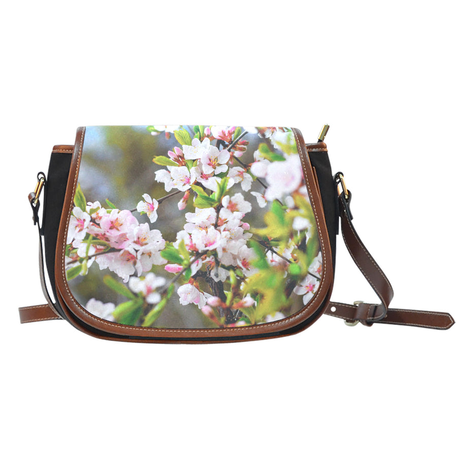 Cherry Blossom Saddle Bag
