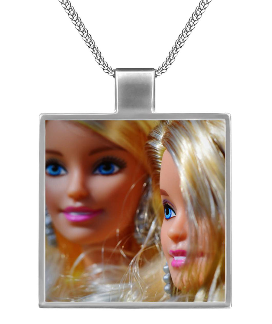 Barbie BFF Square Necklace