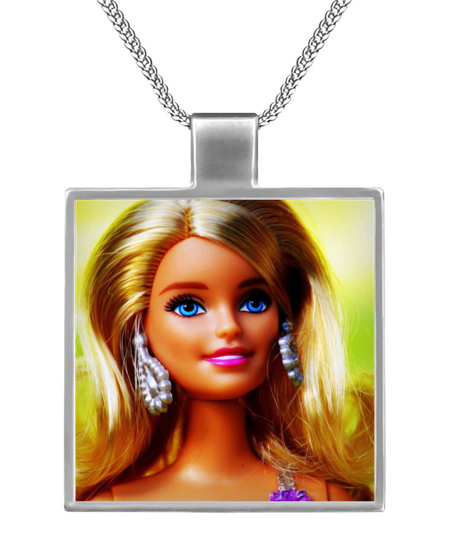 Vivid Barbie Square Necklace