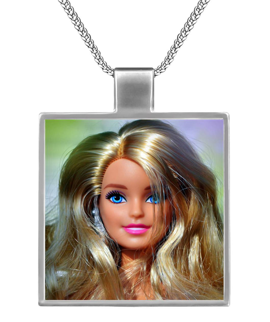 Barbie Love Square Necklace