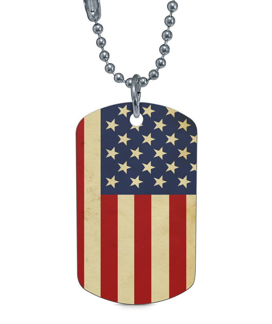 All American Born in the USA Dog Tag