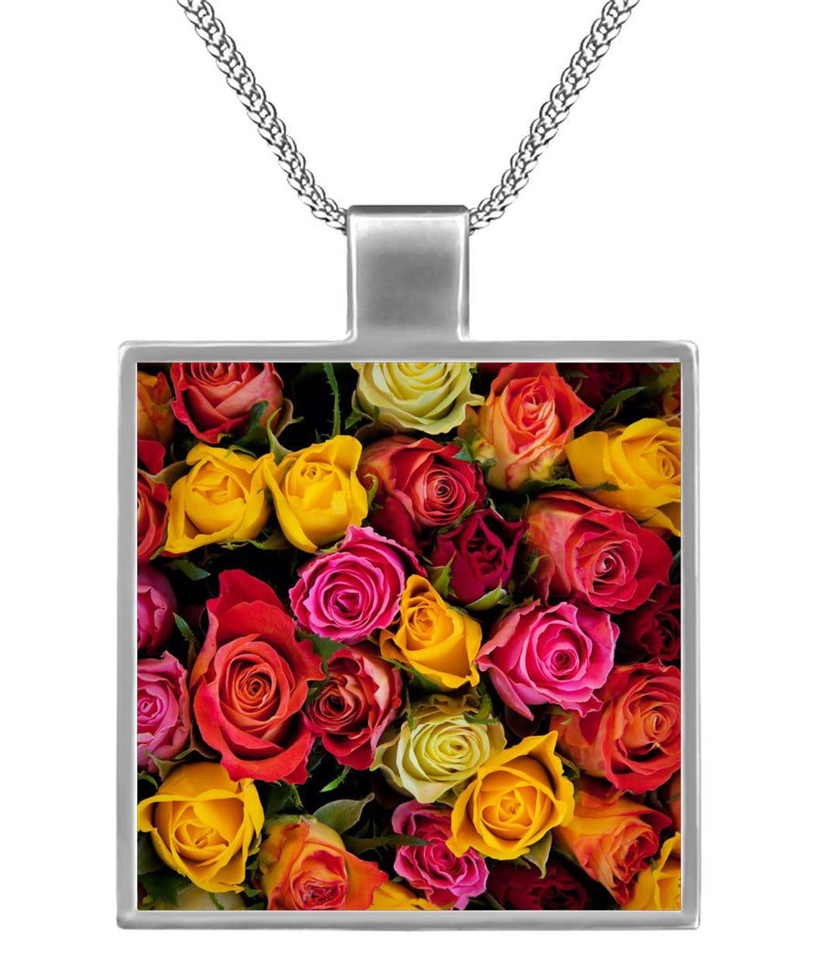 Rose Garden Square Necklace