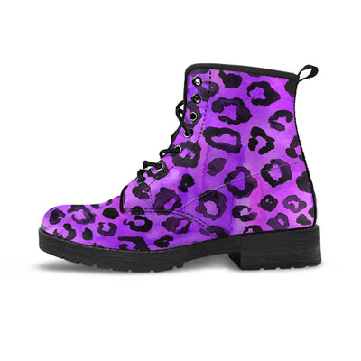 Purple Leopard Boots