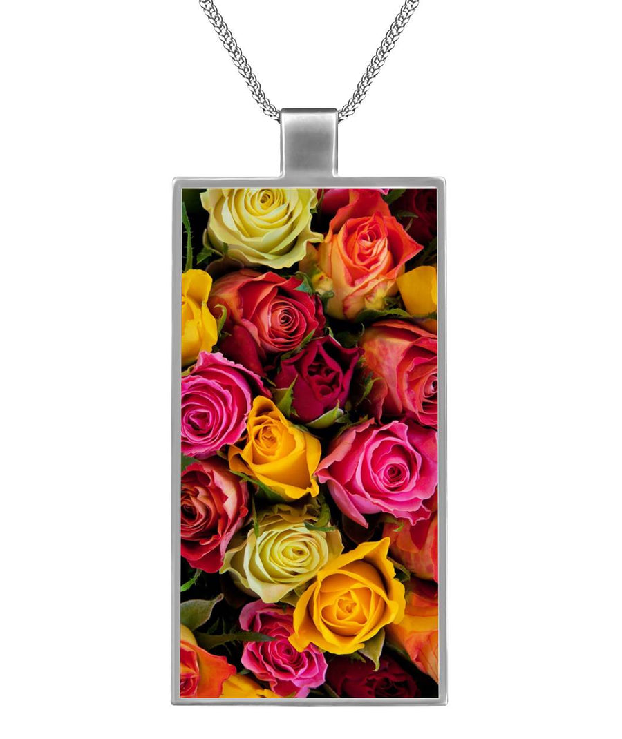 Rose Garden Rectangle Necklace