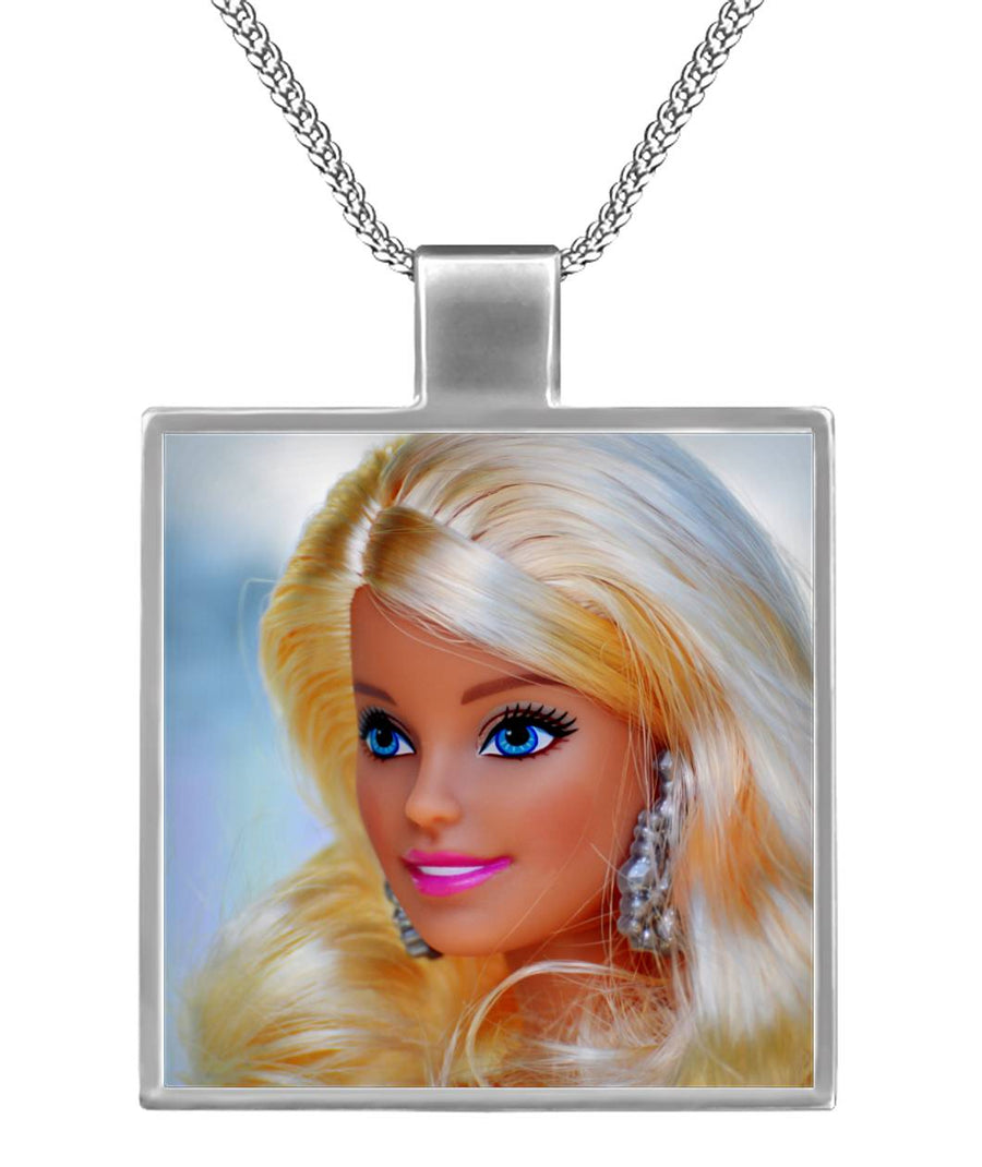 Get up and Go Barbie Square Necklace