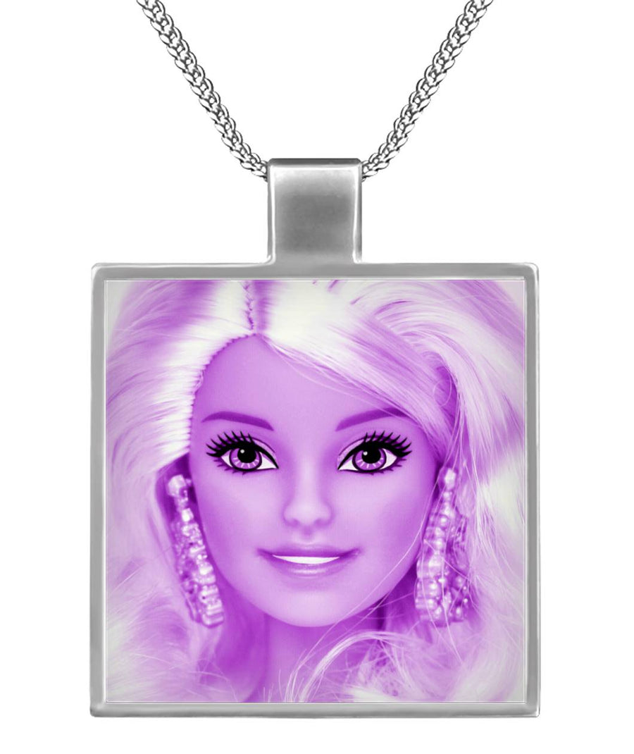 Pink Barbie Square Necklace