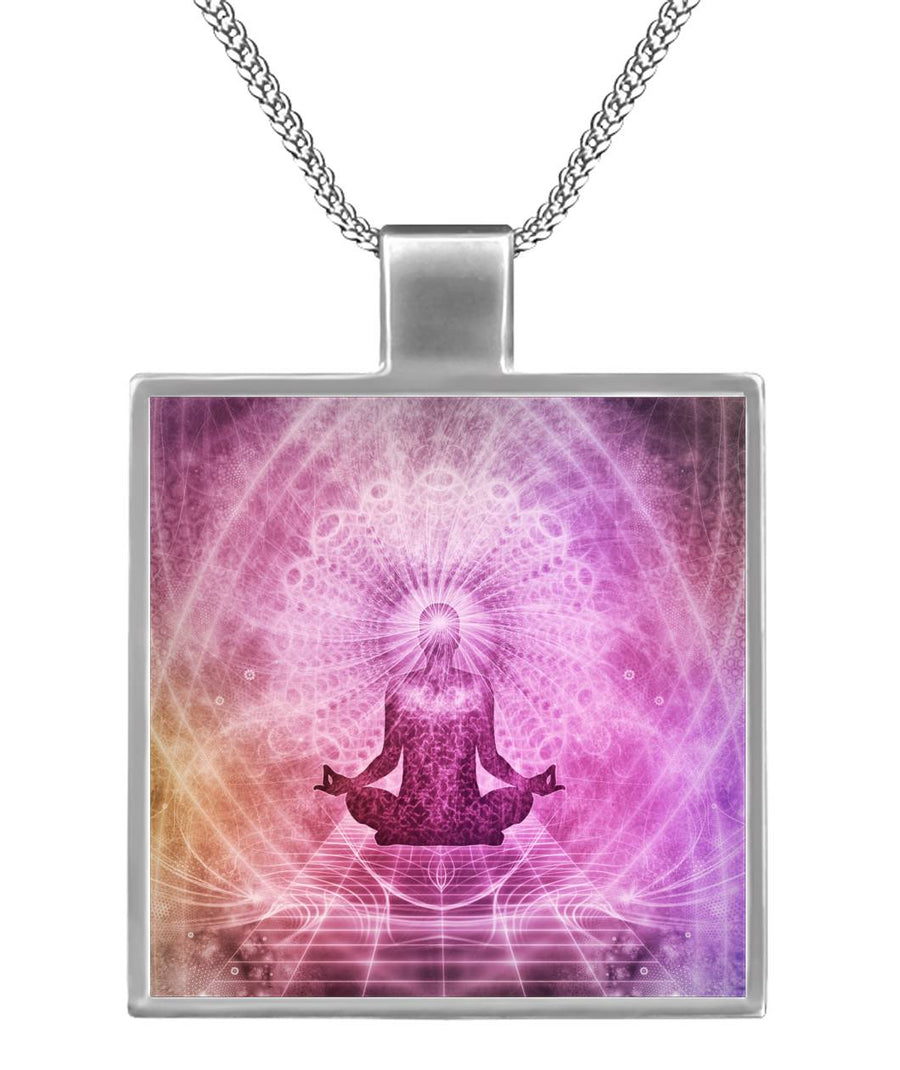 Meditate Me in Square Necklace
