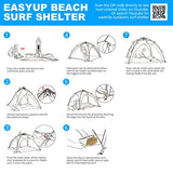 Easthills Outdoors Easy Up Beach Shelter Beach Tent