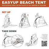 Easthills Outdoors Instant Shade Easy Up Portable Beach Tent Sun Shelter - UPF 50+