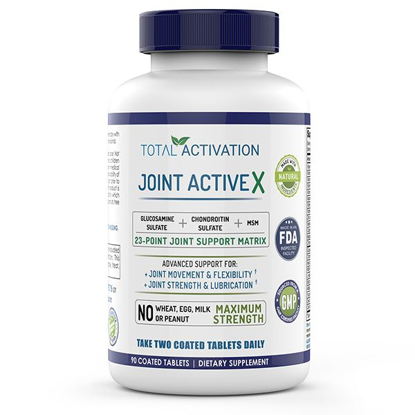 MSM, Glucosamine 1000mg, Chondroitin Sulfate 100mg, Vitamin C, Extra  Strength Joint ActiveX Formula, Supplement For Joint Health, Support,  Discomfort,