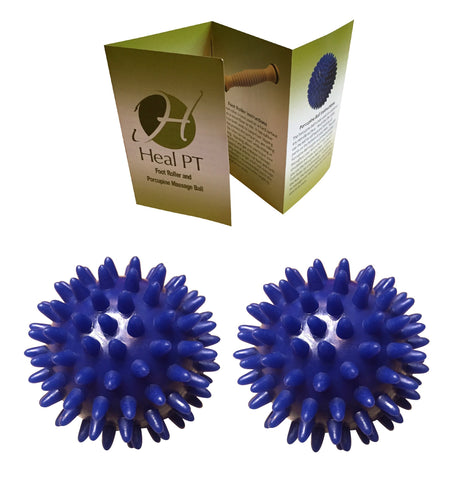 Porcupine Massage Ball (x2) - Portable Foot Massager for Plantar Fasciitis