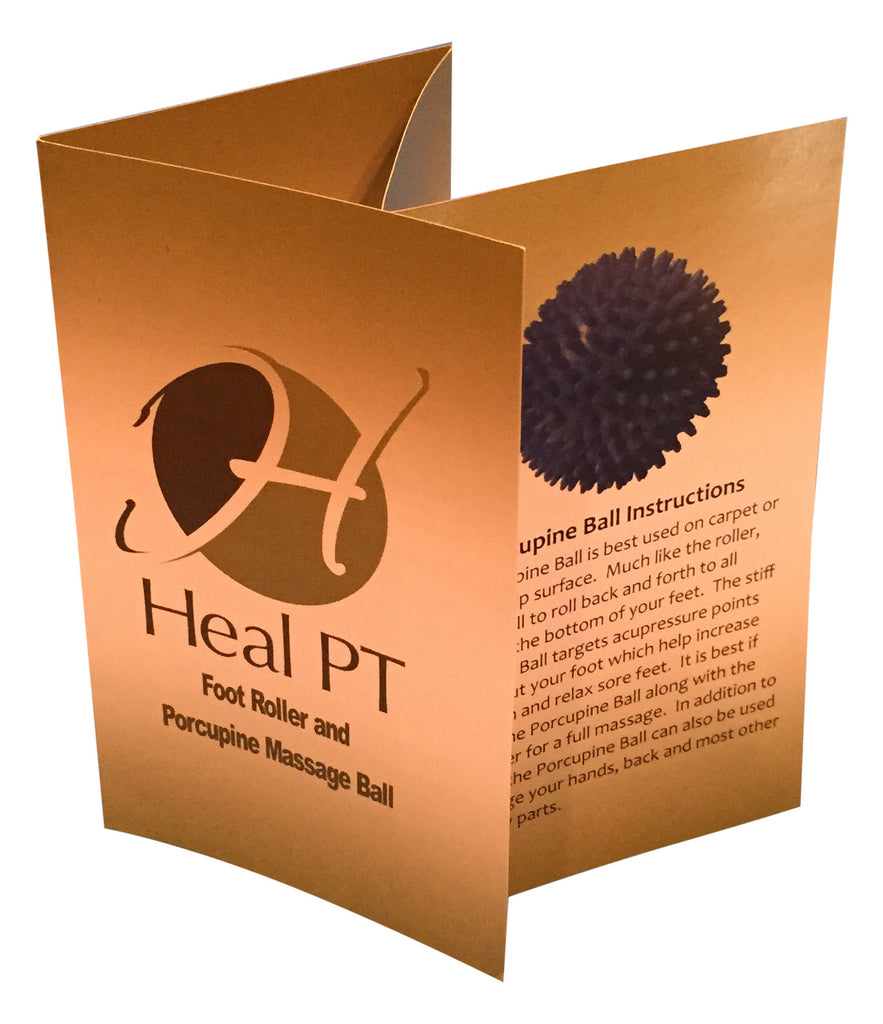 Foot Roller for Plantar Fasciitis Relief - Portable Massage Roller by HealPT