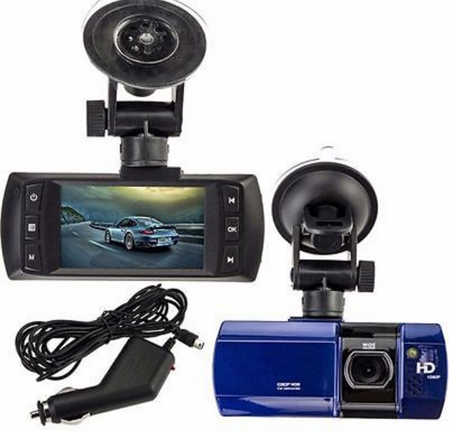 "2.7"" Ultra Wide HD Dashcam w/ Night Vision LED"