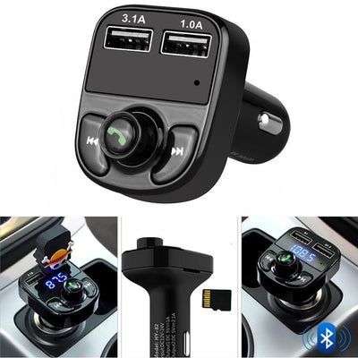 Bluetooth Car Handsfree FM Transmitter MP3 Dual USB charger