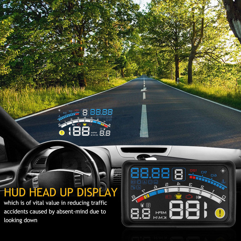 "Onever 4E 5.5"" Car OBD2 EUOBD HUD Head Up Display"