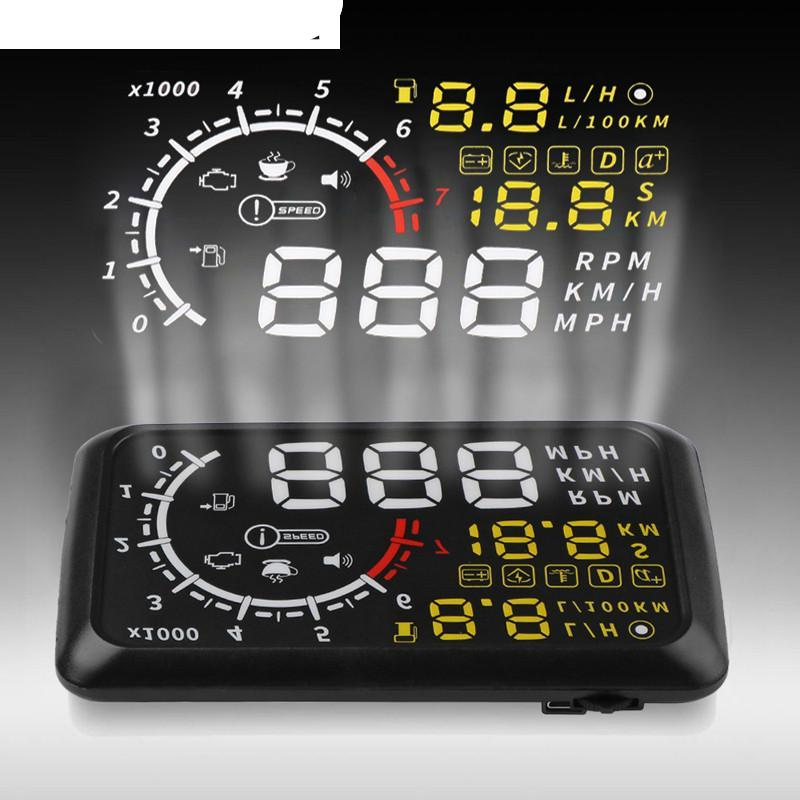 Onever 5.5'' 4C OBDII Car HUD OBD2 Port