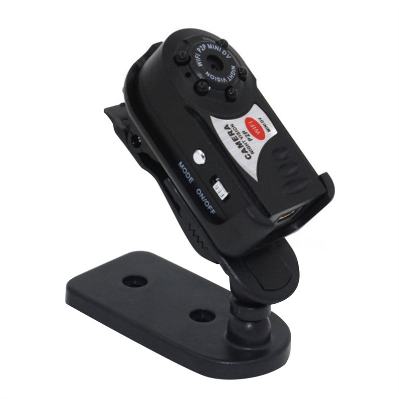 Mini Q7 WIFI P2P Surveillance Spy Remote Camera DVR for iPhone or Android