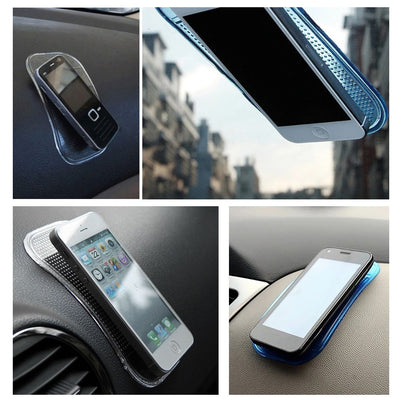 5Pcs Car Dash Anti Slip Soft Mats Sticky Pads for Phone Key Pen Sunglasses