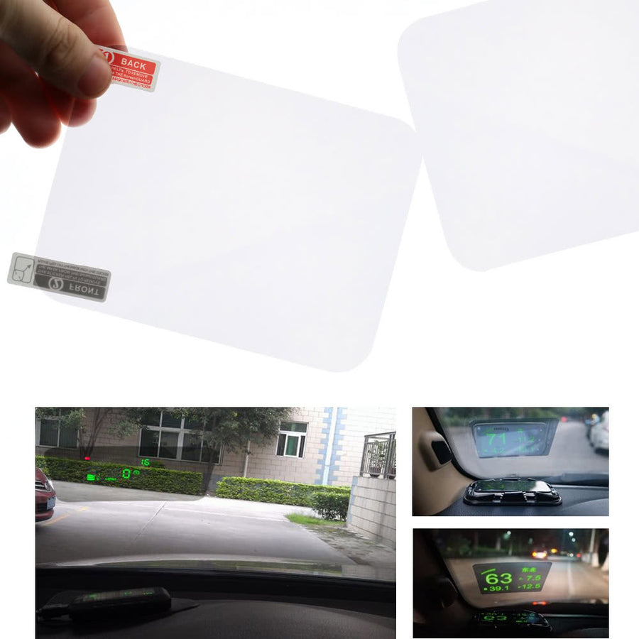"Head Up Display Protective Reflective Screen 5.9"" * 4.9"""