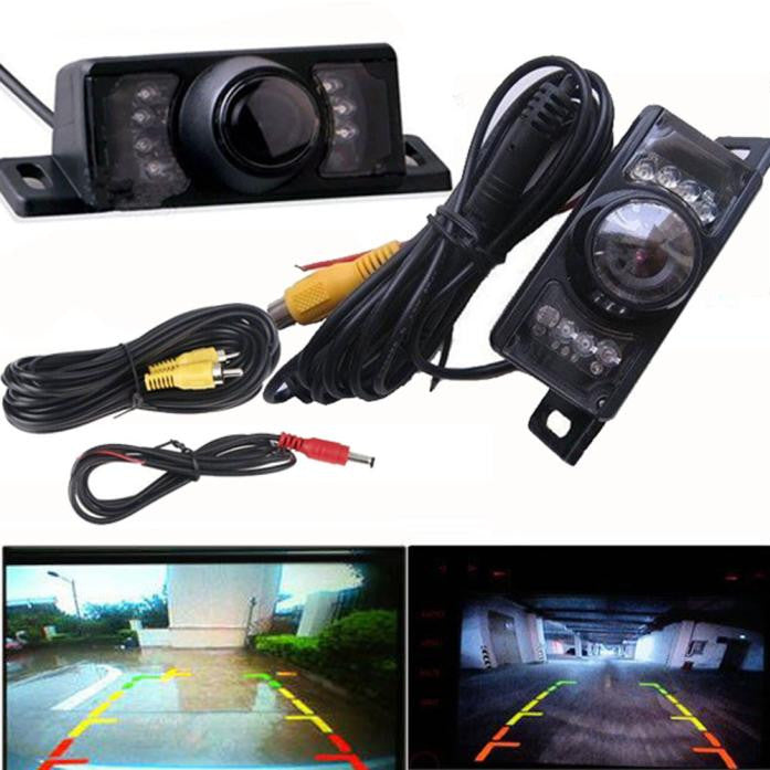 Night Vision Parking Car Rear View Wide Angle LED Reversing Camera