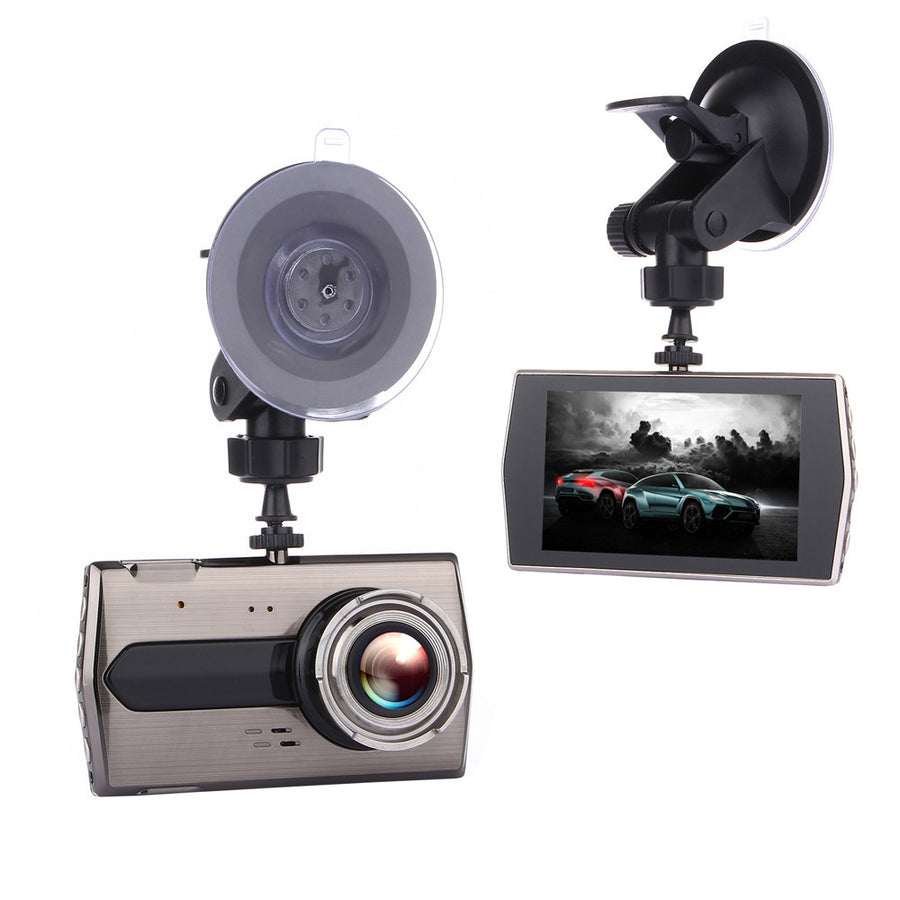 Car Dash Cam 4inch LCD FHD 1080p 170 Degree Wide Angle Dashboard Camera Recorder
