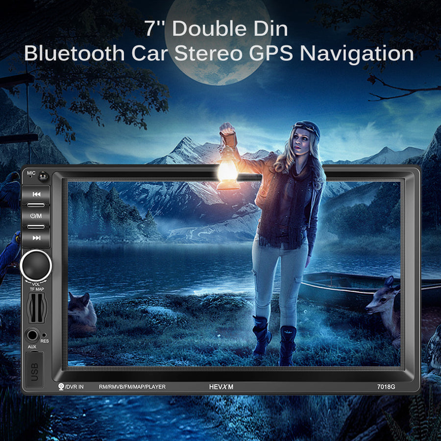 7 inch Bluetooth Car Stereo GPS Navigation Double Din In Dash Audio